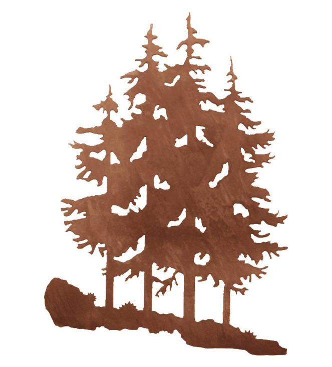 "30"" Pine Trees Metal Wall Art"