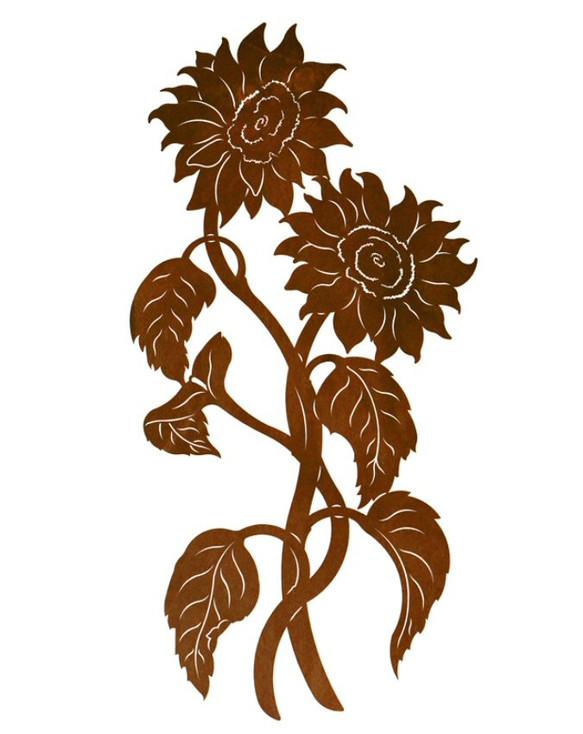 "42"" Sunflowers Metal Wall Art"