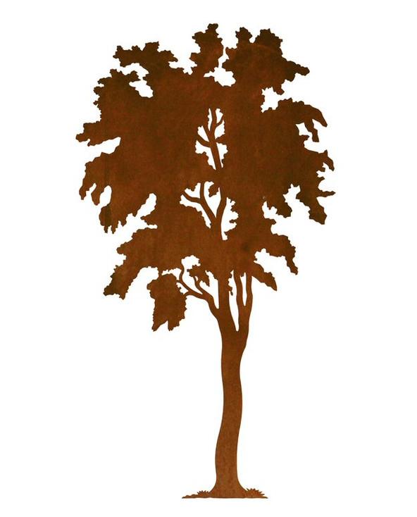 "30"" Birch Tree Metal Wall Art"