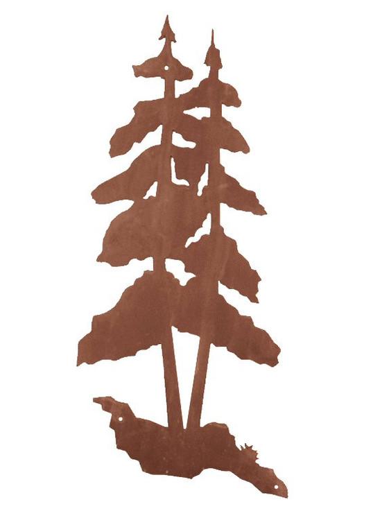 "33"" Pine Trees Metal Wall Art"