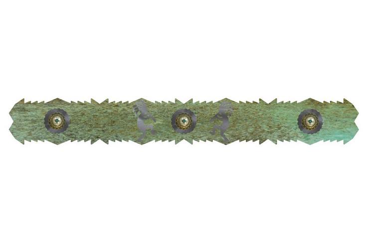"36"" Kokopelli Metal Hanging Wall Rug Rail"