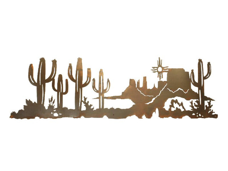 "57"" Scene of the Desert Metal Wall Art"