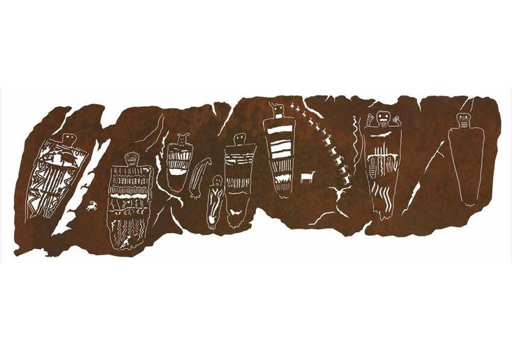 """84"""" Petroglyph Great Gallery Metal Wall Art"""