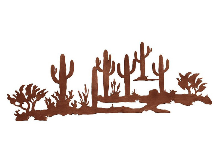 "42"" Desert Scene Metal Wall Art"