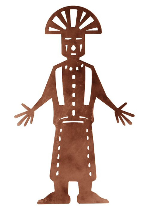 """30"""" Kachina with Arms Out Metal Wall Art"""