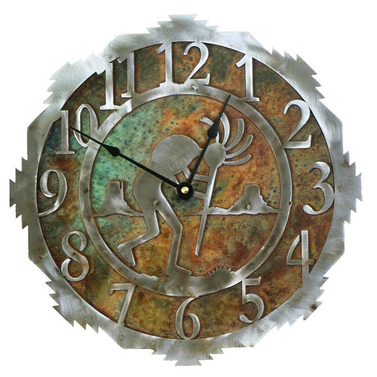 """12"""" Kokopelli Metal Wall Clock"""