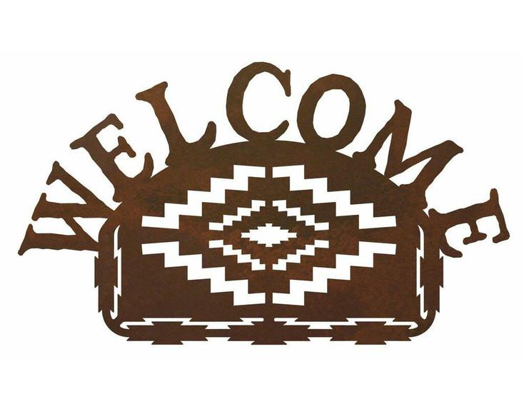 Desert Diamond Metal Welcome Sign