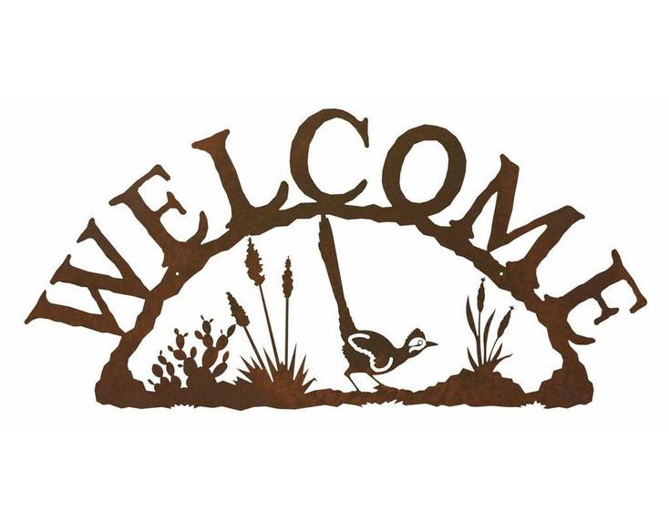 Road Runner Bird Metal Welcome Sign