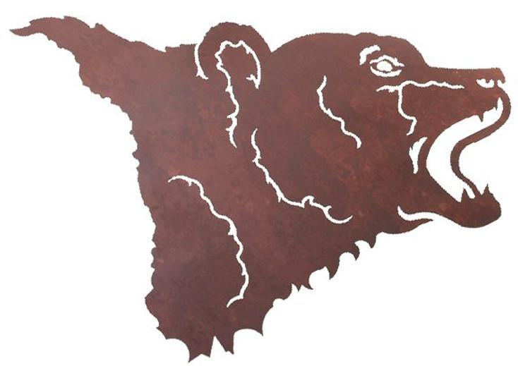 "30"" Bear Head Metal Wall Art"