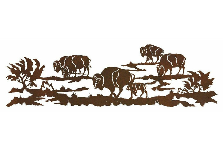 "84"" Heard of Buffalo Metal Wall Art"