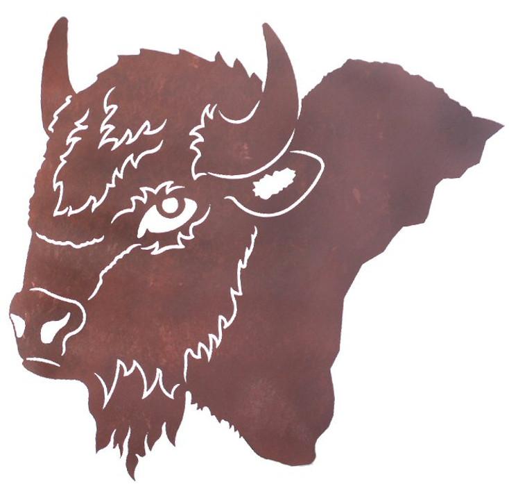 """27"""" Buffalo Head Metal Wall Art"""