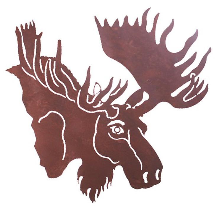 "31"" Moose Head Metal Wall Art"