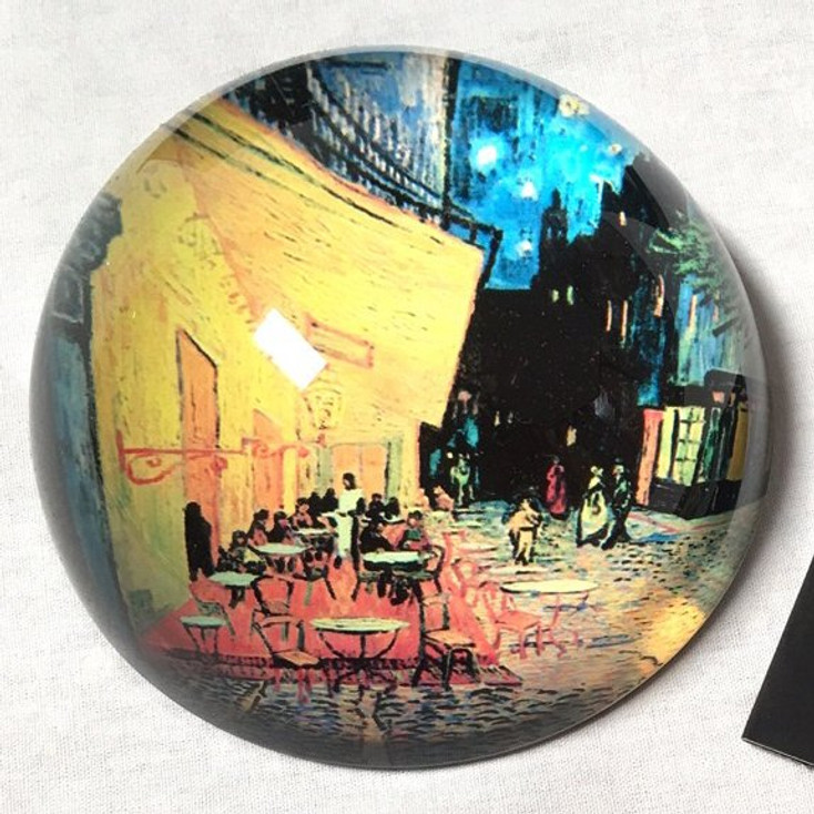 Cafe Terrace Glass Paperweight by Van Gogh