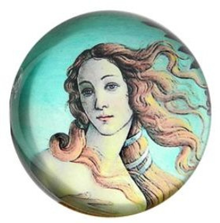Birth of Venus Glass Paperweight by Sandro Botticelli