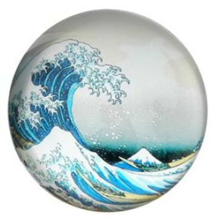 Great Wave off Kanagawa Glass Paperweight by Hokusai
