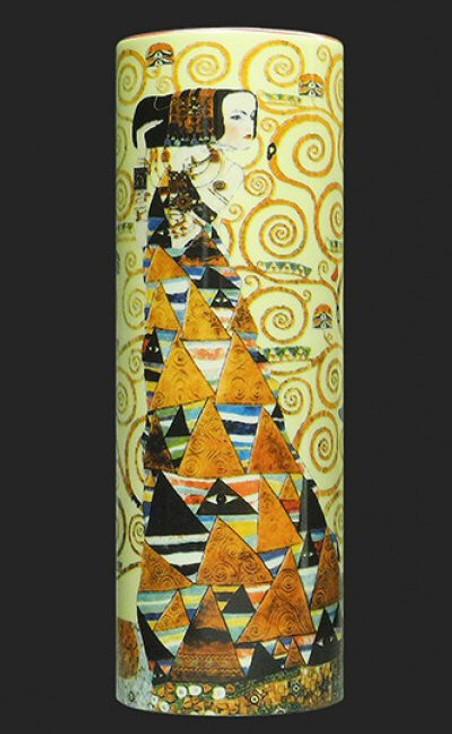 Small Klimt Expectation Ceramic Vase by Gustav Klimt