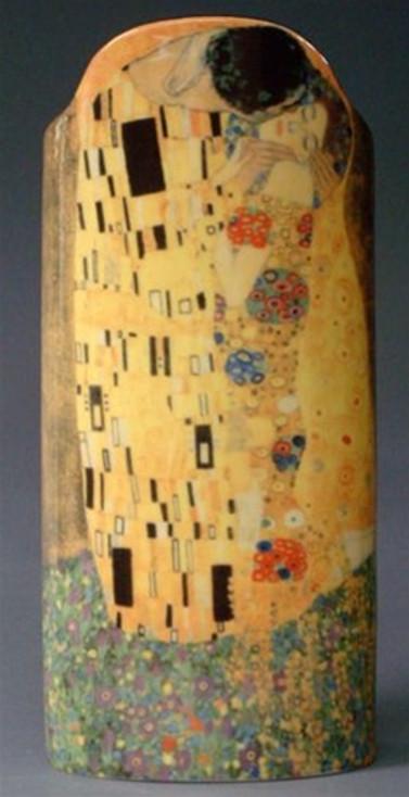 The Kiss Ceramic Vase by Gustav Klimt