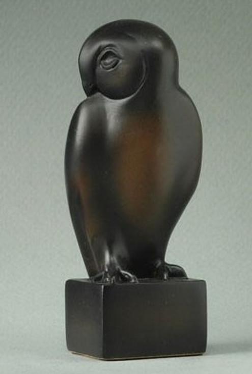 Miniature Owl Bird Statue by Francois Pompon