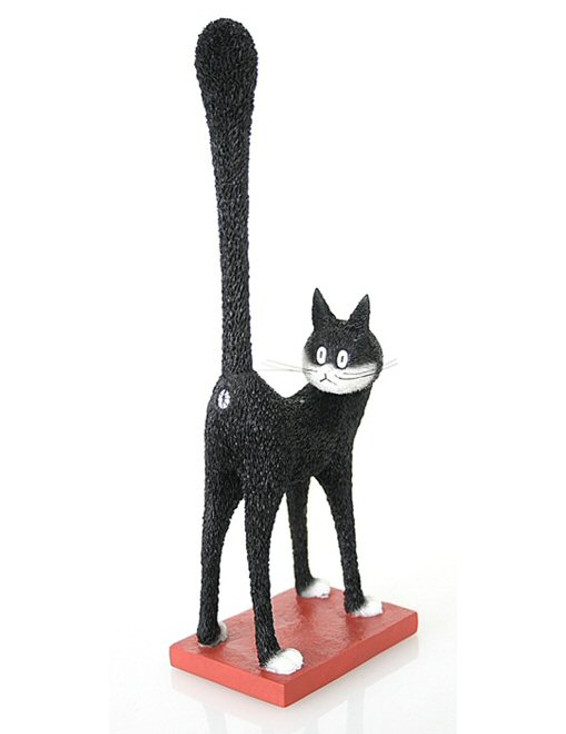 The Third Eye Cat Statue with Tail Up by Dubout