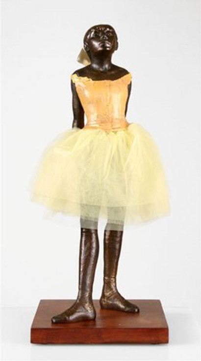 Large Little Dancer Ballerina with Fabric Skirt Statue by Edgar Degas