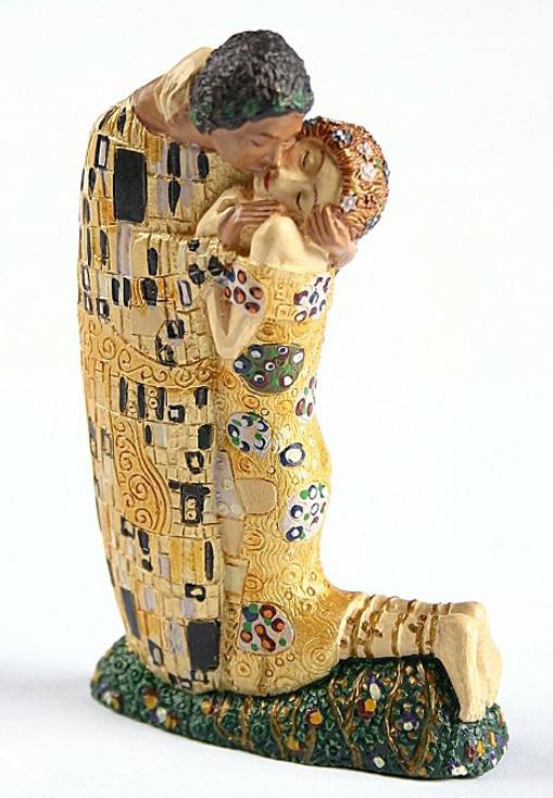Miniature The Kiss Statue by Gustav Klimt