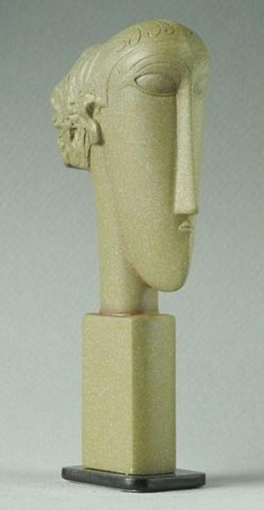 Miniature Female Head Tete Statue by Modigliani