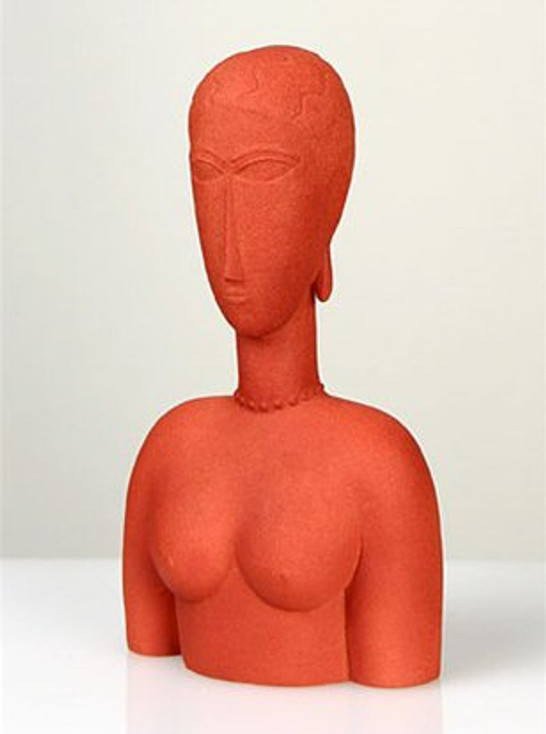 Modigliani Abstract Female Bust, Red