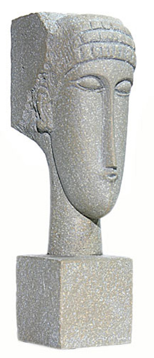 Modigliani Cubic Head Statue
