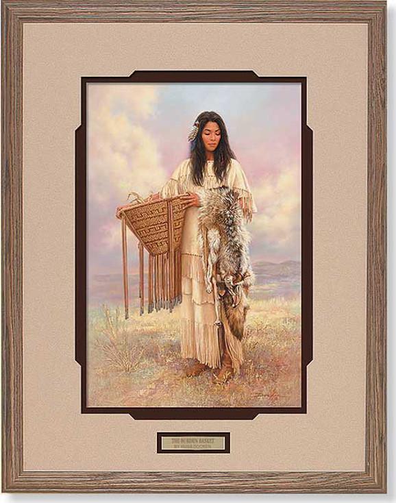Burden Basket Native American Woman Framed Art Print Wall Art