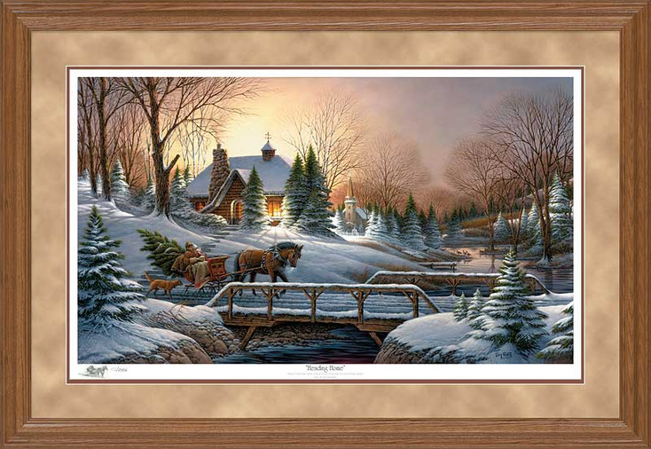 Limited Edition Heading Home Oak Framed Canvas Art Print Wall Art