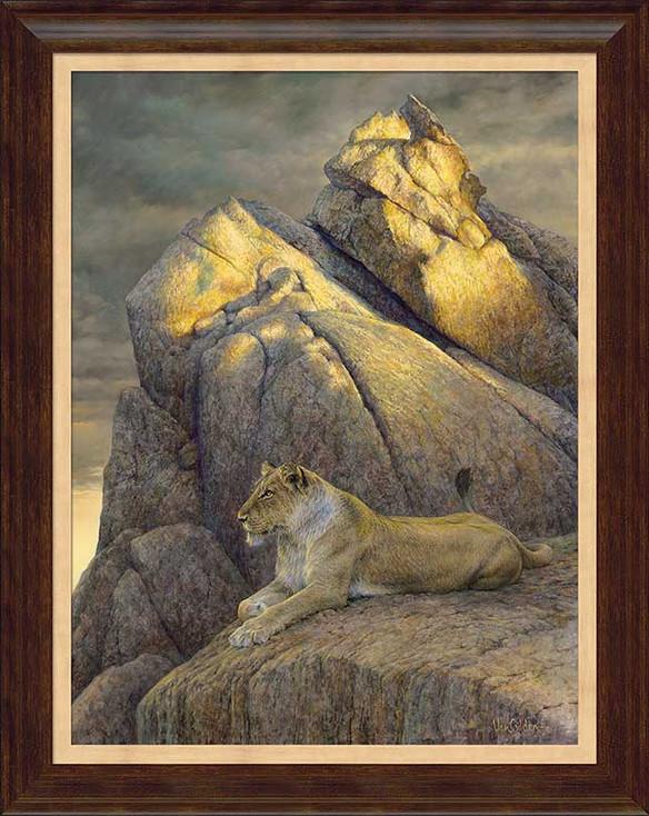 The Overseer Lion Framed Canvas Giclee Art Print Wall Art