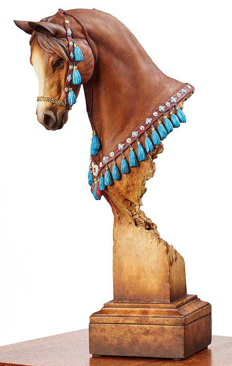 Nobility Arabian Horse Hand Painted Sculpture