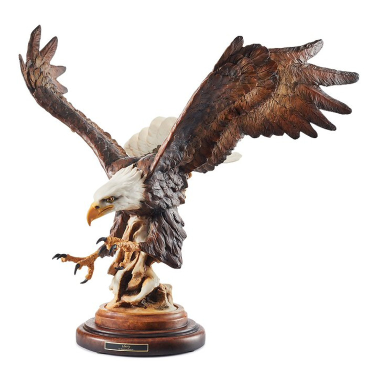 Liberty Eagle Bird Hand Painted Sculpture