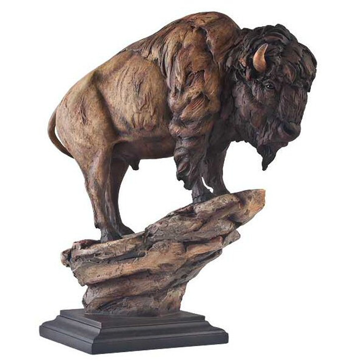 El Patron Bison Hand Painted Sculpture