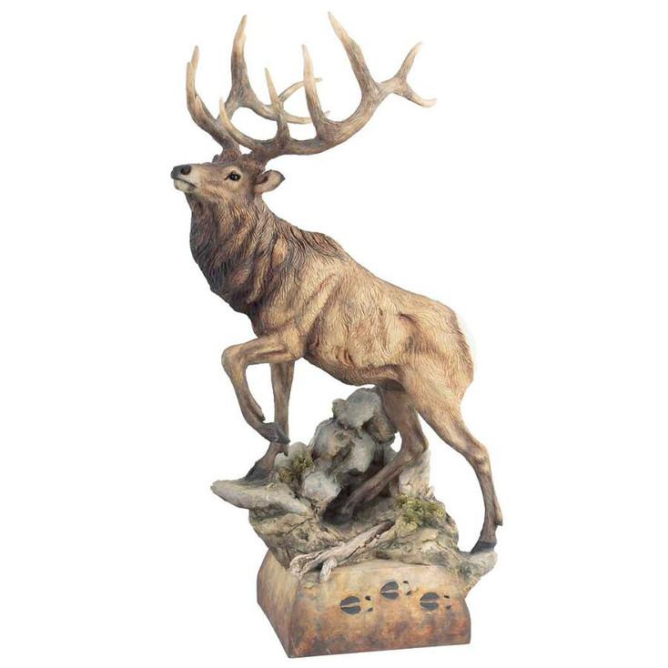 Hoofin It Elk Hand Painted Sculpture