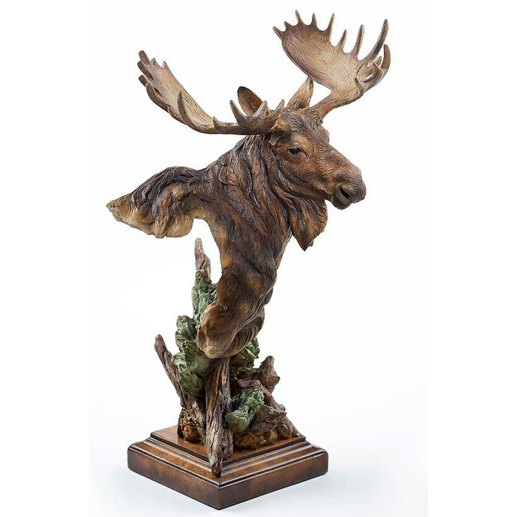 Heavy Weight Moose Hand Painted Sculpture