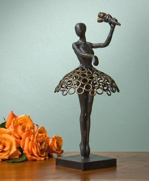 Bronze Iron Ballerina Sculpture