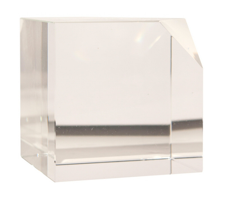 Cut Corner Crystal Cubes, Set of 2