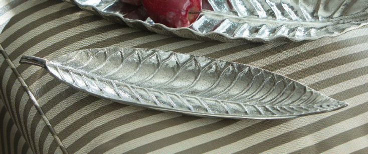 Tropical Leaf Aluminum Tray, Set of 4