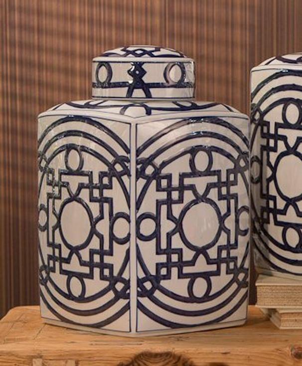 Porcelain Blue and White Tea Jar