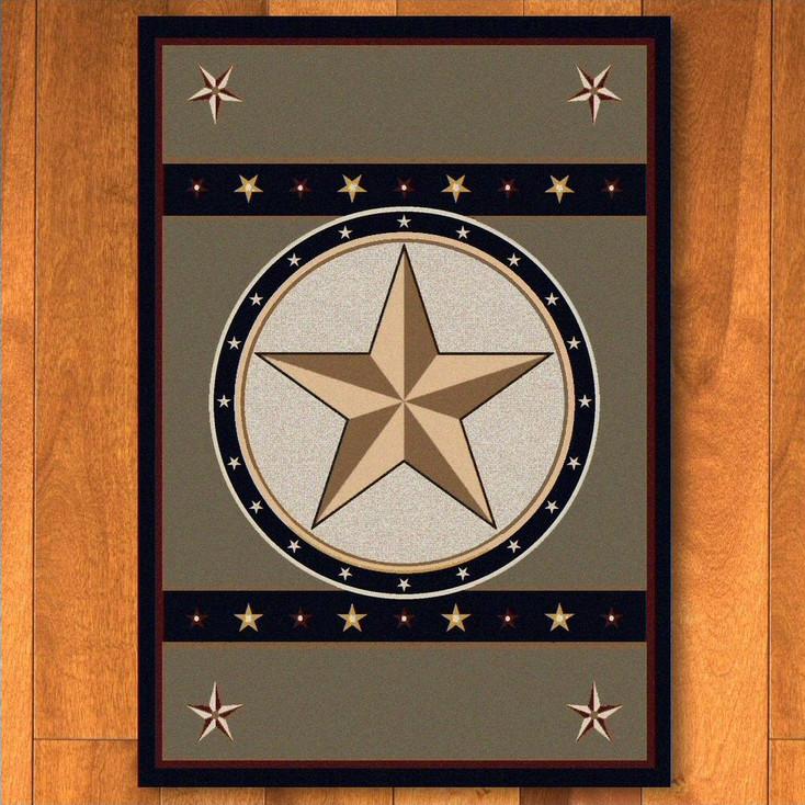 5' x 8' Sage Star Green Western Rectangle Rug