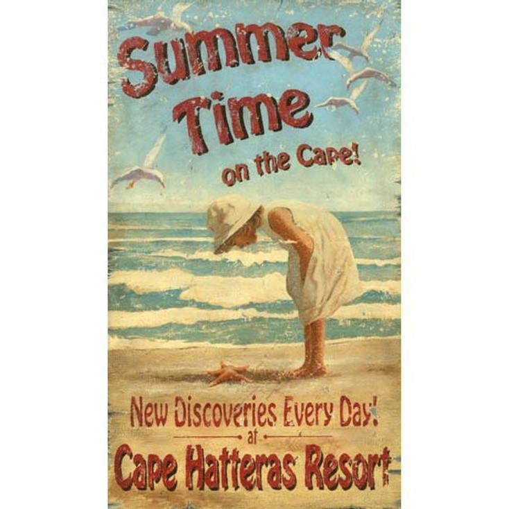 Custom Cape Hatteras Resort Vintage Style Metal Sign
