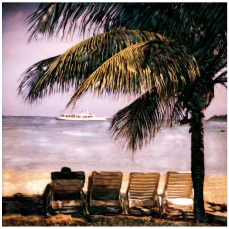 Custom 4 Chairs on Beach & Yacht Vintage Style Metal Sign