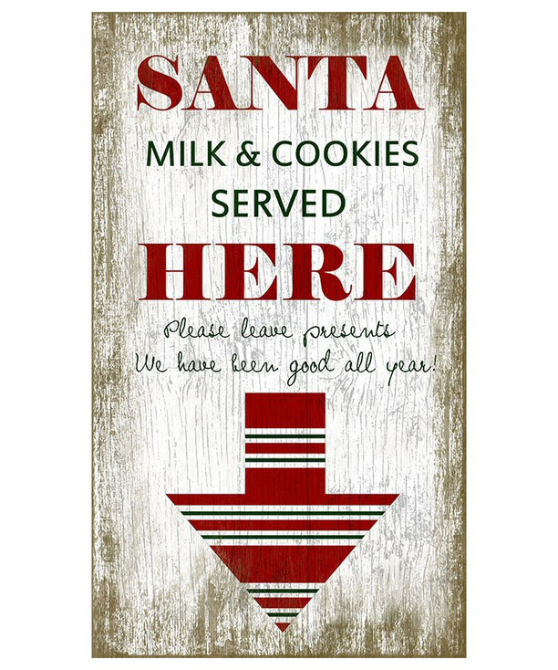 Custom Santa Milk & Cookies Vintage Style Metal Sign