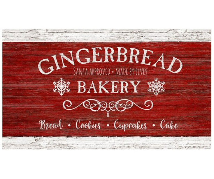 Custom Gingerbread Bakery Vintage Style Metal Sign