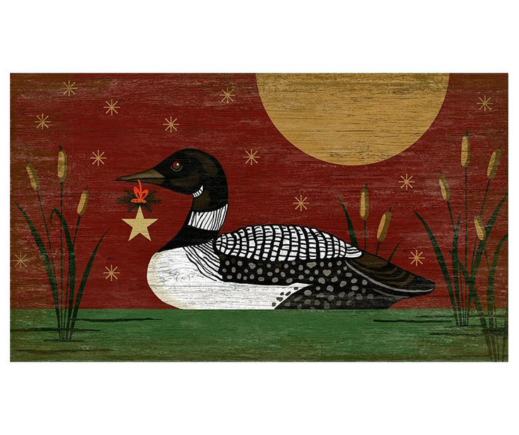 Christmas Loon Bird Vintage Style Metal Sign