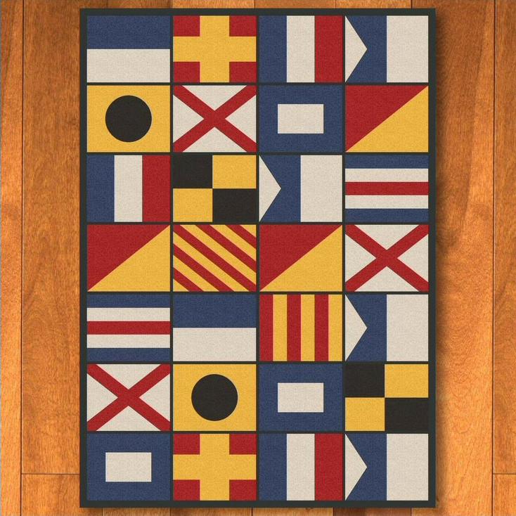 8' x 11' Nautical Signal Flag Rectangle Rug