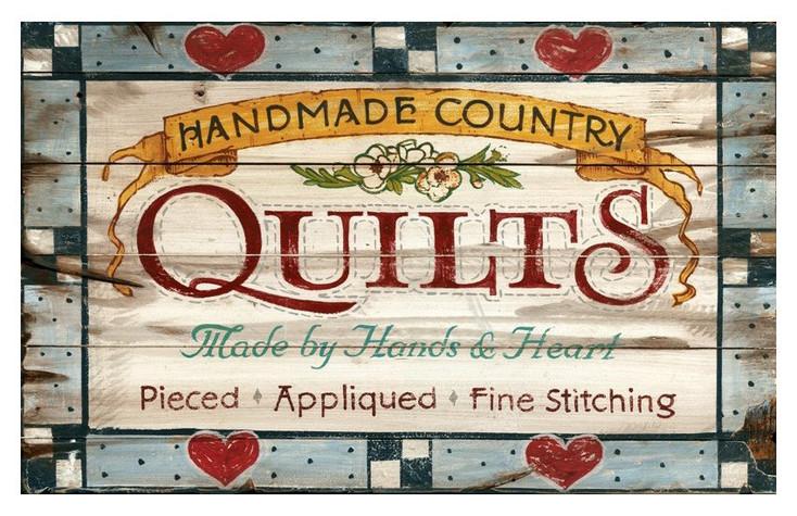 Custom Vintage Town Quilts Vintage Style Metal Sign