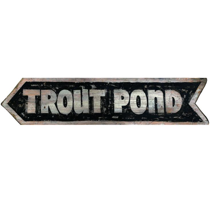 Custom Trout Pond Vintage Style Metal Sign