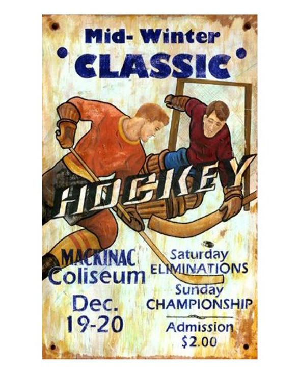 Custom Hockey Vintage Style Metal Sign